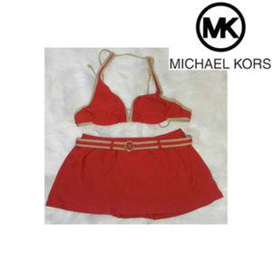 Michael Kors Red 2 pc Swimsuit